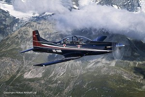 Successful 1st Flight of SAAF PC-7 MkII With New Cockpit