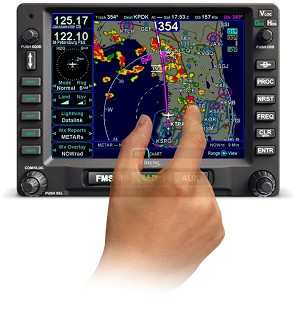 Avidyne Unveils Multi-Touch Functionality for IFD540 Touch-Screen FMS/GPS/NAV/COM