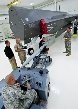 LM Delivers 1st F-35 Weapons Load Training System to Eglin AFB