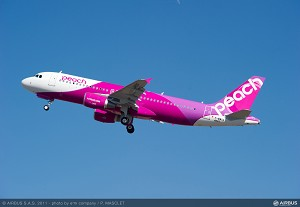 Japan's Peach Aviation takes delivery of its first A320