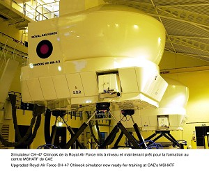 Upgraded RAF CH-47 Chinook simulator ready-for-training at CAE's MSHATF