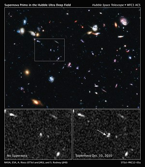 Nasa's Hubble Breaks New Ground With Distant Supernova Discovery