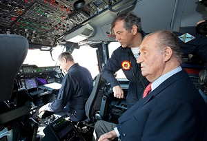 King Juan Carlos I of Spain becomes first head of state to fly in Airbus Military A400M