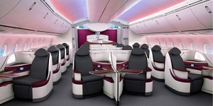 Qatar Airways Unveils New Boeing 787 Seats at ITB Berlin