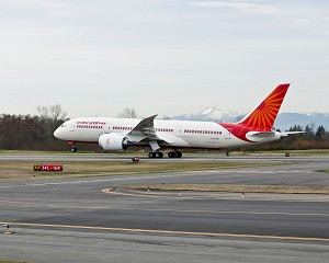 Boeing 787 Dreamliner for Air India Debuts in New Delhi