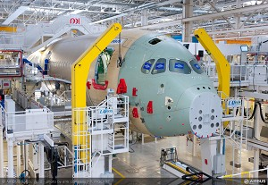 Airbus starts final assembly of first A350 XWB