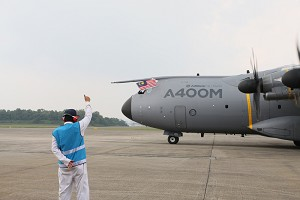 Airbus Military A400M makes first landing in Malaysia