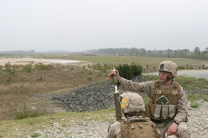 Marines train with new mortar system during field exercise