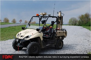 Autonomous Vehicle Developed for Surveying Assault-Zone Runways