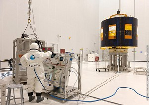 Fueling begins with Europe's MSG-3 satellite payload for next Ariane 5 launch