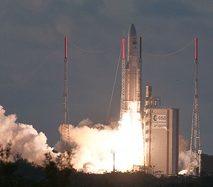 Ariane 5 lofts telecommunications and weather observation satellites on latest mission success
