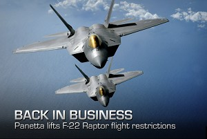 DoD Approves Plan to Lift F-22 Restrictions