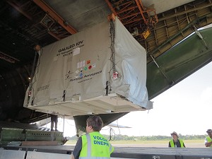 Next Galileo satellite reaches French Guiana launch site