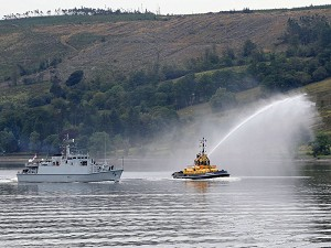 Royal Navy minehunters return from the Gulf