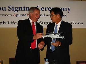 AgustaWestland Signs Partnership Agreements with Republic of Korea Companies