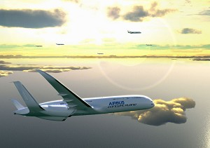 Airbus lights up Berlin's Humboldt-Box with its vision of the future of flight in 2050