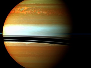 NASA Spacecraft Sees Huge Burp at Saturn After Large Storm