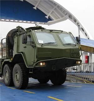 1st Armoured SISU 8x8 military truck delivery to Estonia