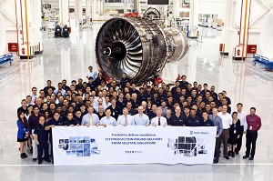 Rolls-Royce delivers the 1st Trent aero engine produced in Singapore