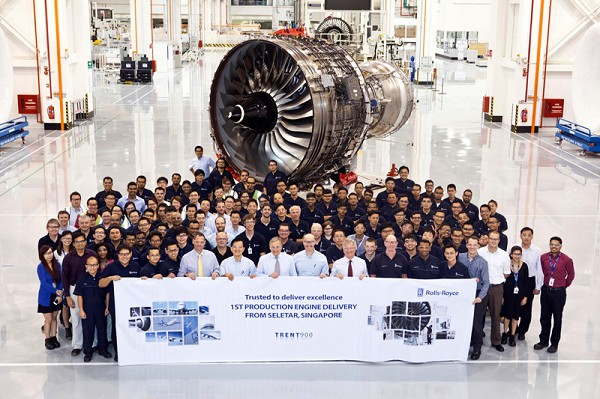 Rolls-Royce delivers the 1st Trent aero engine produced in S