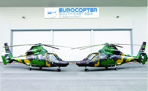 Eurocopter AS365 N3+ Dauphin helicopters enter service with the Bangladesh Army