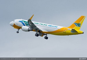 Cebu Pacific Air takes delivery of its first A320 with Sharklets
