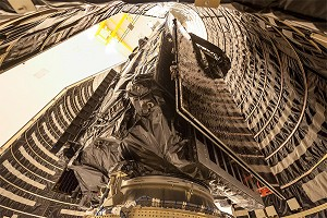 Nation's Newest Missile Warning Satellite Encapsulated in Launch Vehicle Payload Fairing