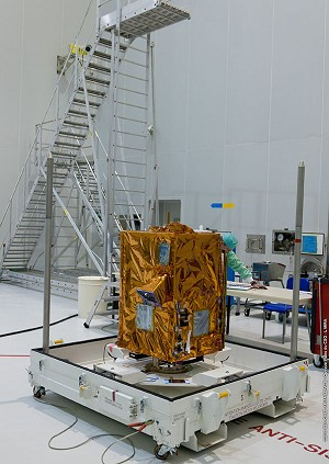 The 2 primary payloads for Vega's 1nd launch are readied at the Spaceport