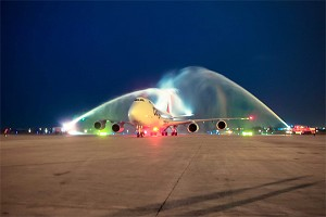Boeing 747-8 Serves 100th Airport