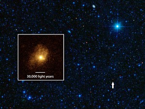 Galaxy Goes Green in Burning Stellar Fuel