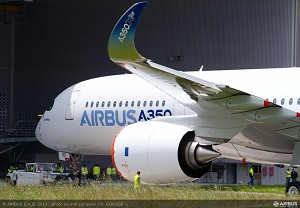1st A350 XWB painting completed in Toulouse