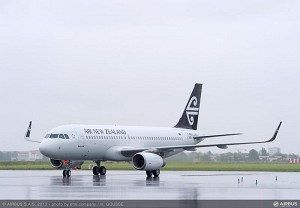 Launch customer Air New Zealand gets its 1st A320 with Sharklets
