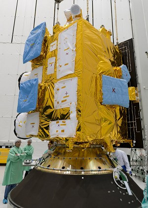 INSAT-3D completes initial preparations for next Ariane 5 flight from Spaceport