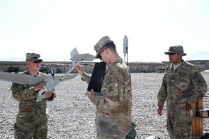 3rd ID Soldiers certify on Raven unmanned aircraft while deployed to Afghanistan