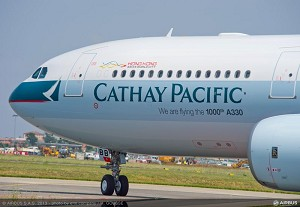 Airbus delivers its 1,000th A330 to Cathay Pacific