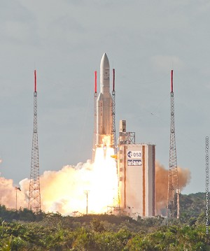 Heavy-lift Ariane 5 mission orbits key satellite payloads for Europe and India