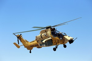 The initial HAD/E Tiger assembled in Eurocopter Spain performs its 1st flight