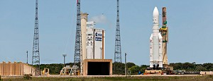 Ariane 5 reaches launch zone for 4th heavy-lift flight in 2013