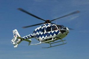 Eurocopter presents a ''collectable'' art helicopter at the Monaco Yacht Show based on the twin-engine EC135