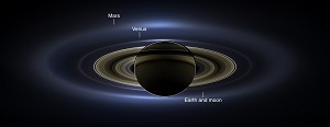 NASA Cassini Spacecraft Provides New View of Saturn and Earth