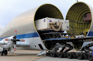 Heat Shield for NASA's Orion Spacecraft Arrives at Kennedy Space Center