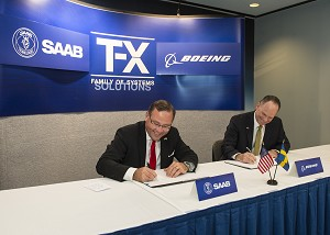 Boeing and Saab Sign Joint Development Agreement on T-X Family of Systems Training Competition