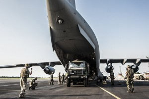 RAF Flies 2nd Wave of Vehicles to French Peacekeepers