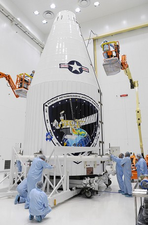 LM-Built Weather Satellite Encapsulated For Upcoming Launch