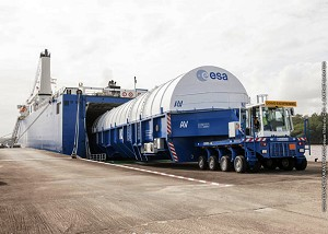 Ariane 5 launcher hardware arrives for next ATV mission