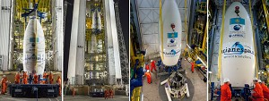 Vega Launcher Receives its ''Upper Composite'' for This Month's Mission