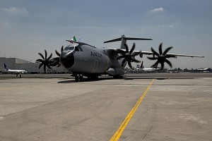 Airbus A400M makes 1st visit to Mexico