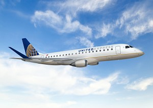 United Airlines Launches Service With New Embraer 175 Aircraft