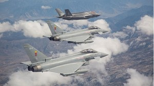 F-35 and Typhoon fly together for the 1st time