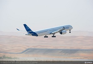 A350 XWB completes hot weather testing in Al Ain